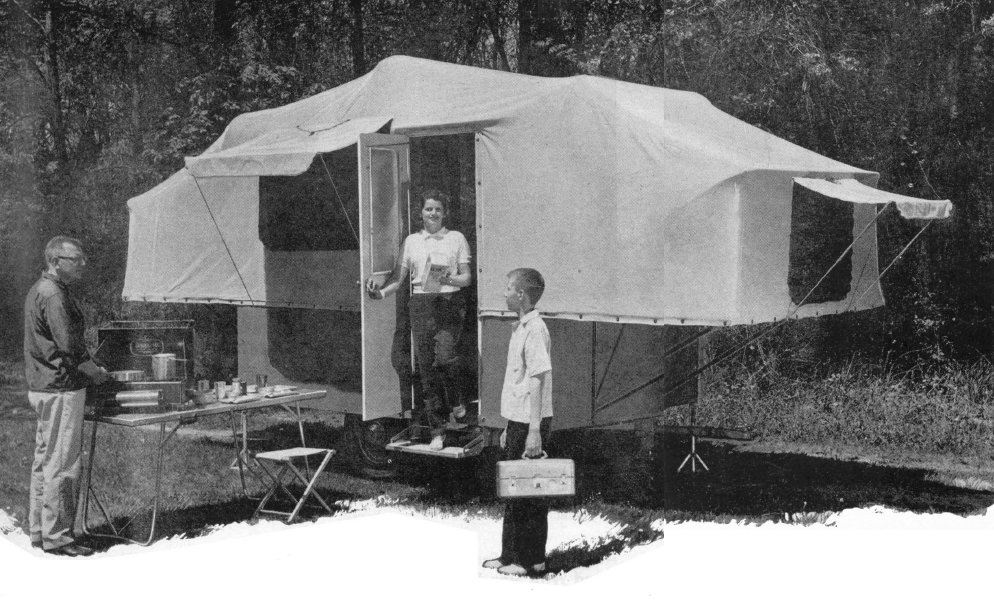 Vintage Pop-Up camper: Image provided by Vintage Teardrop Trailer Plans Reprints