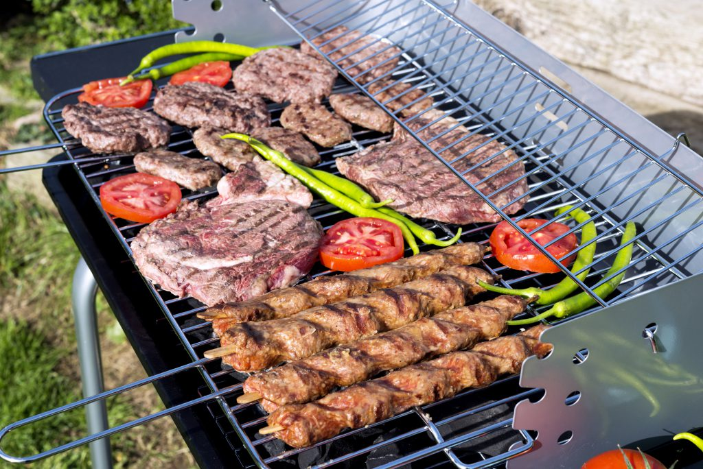 Macro of barbecue in garden. MORE IMAGES...(you can see links to other categories via my main account page-About Me)
